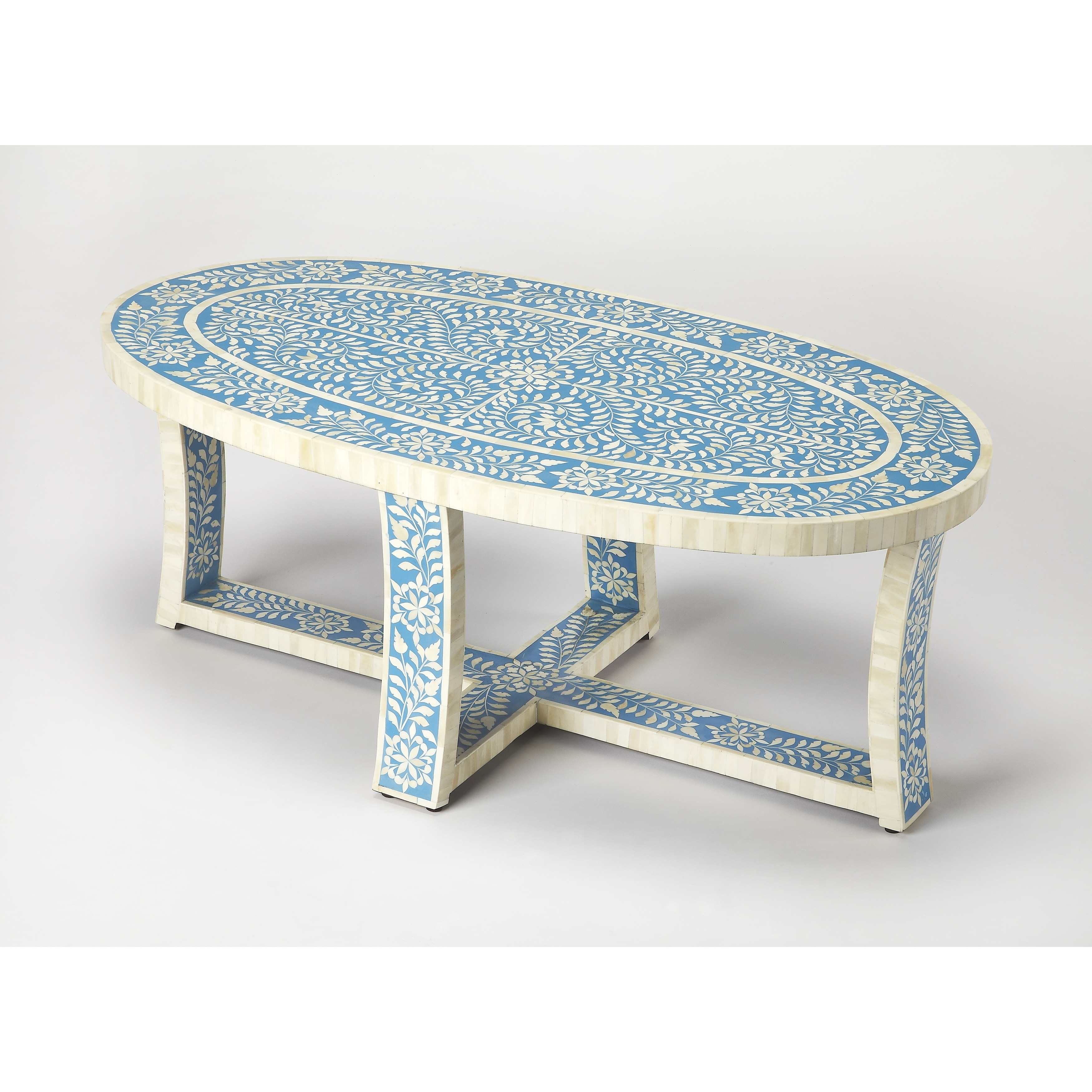 Charmant Shop Butler Sabina Blue Bone Inlay Coffee Table   On Sale   Free Shipping  Today   Overstock.com   18029901