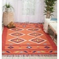 Nourison Baja Moroccan Orange/Red Area Rug (5'X7' )