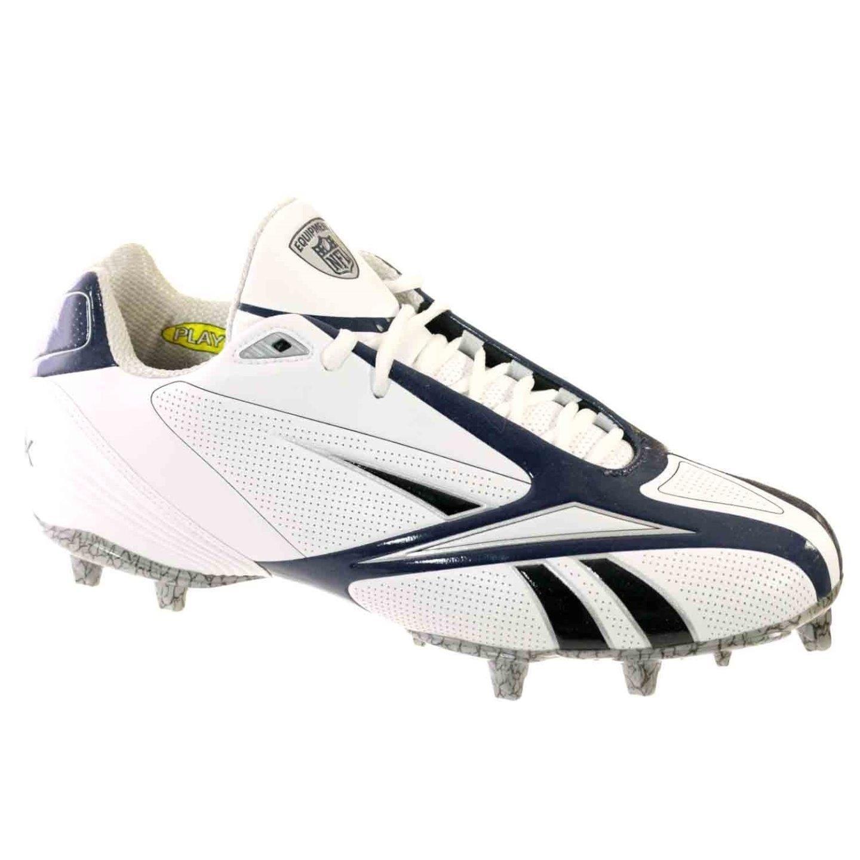 3764ddf20ebb Shop reebok pro burner iii low mens football shoes white navy free shipping  today jpg 1440x1440