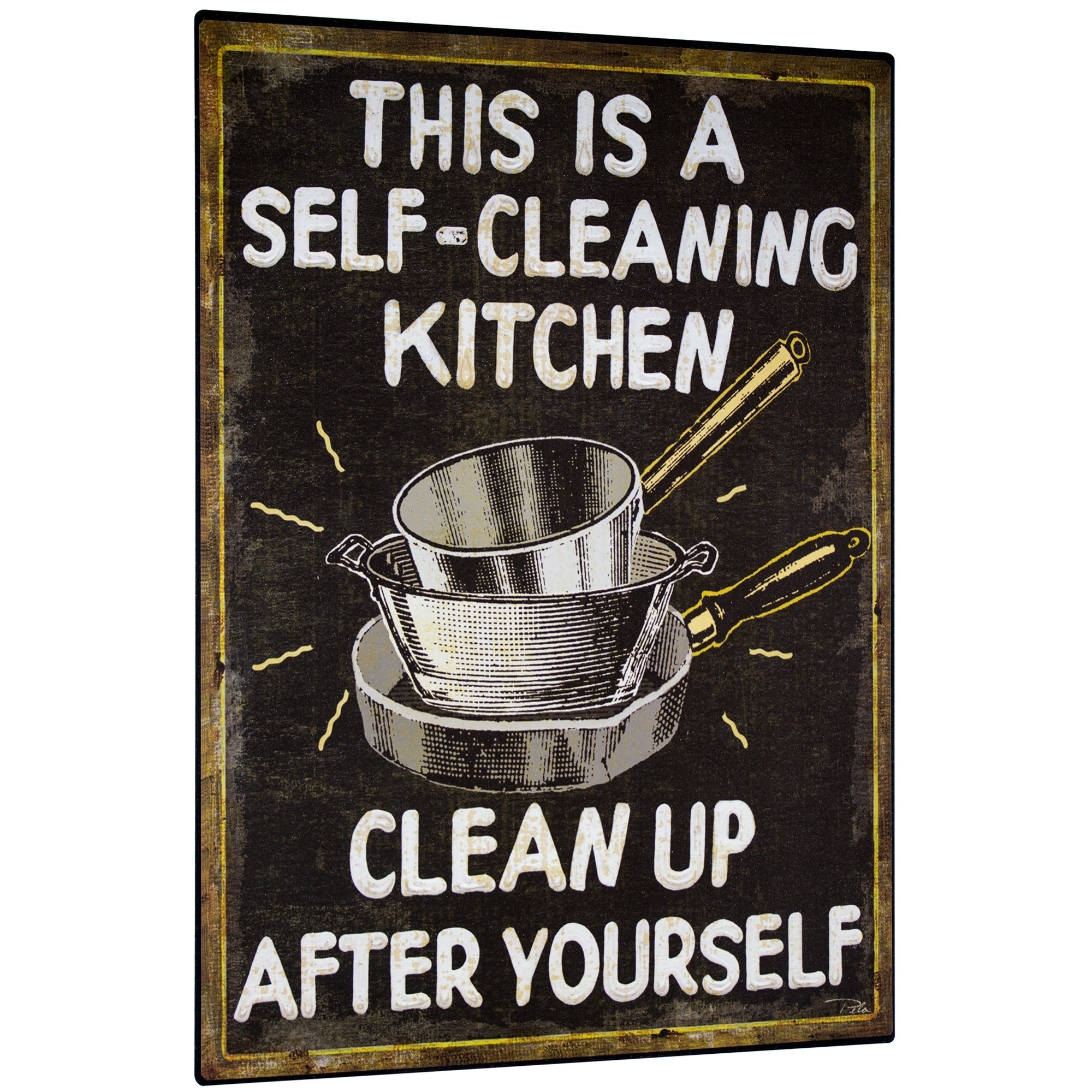Shop Vintage Self Cleaning Kitchen Sign Wall Decor