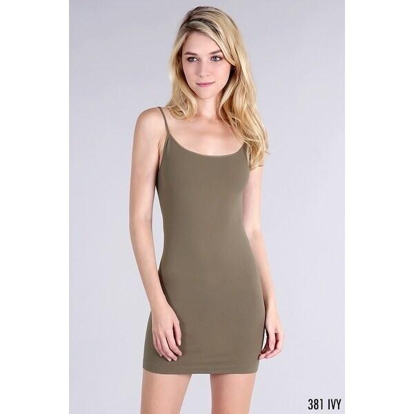 7f5e84461b60e Shop Nikibiki Women s Seamless Camisole Dress Slip - Free Shipping On  Orders Over  45 - Overstock - 18038339