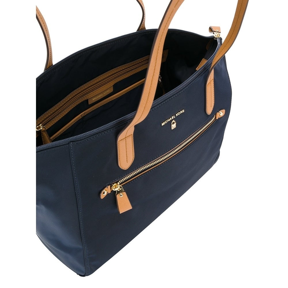 cd71be132f62 Shop Michael Kors Kelsey Nylon Large Zip Tote in Admiral - Free Shipping  Today - Overstock - 18041287