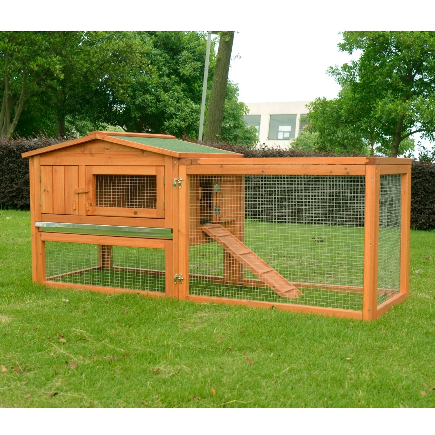 Pawhut Outdoor Guinea Pig Pet House And Rabbit Hutch Habitat With Run Free Shipping Today 18041428