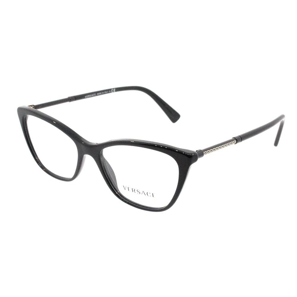 912f0aeb32c Shop Versace Cat Eye VE 3248 GB1 Womens Black Frame Eyeglasses - Free  Shipping Today - Overstock - 18041772