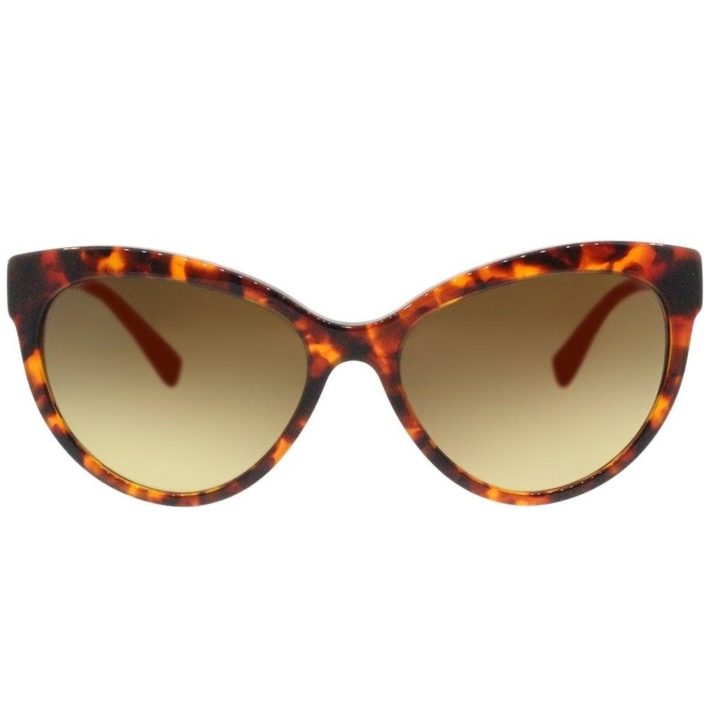 925e6b88f09 Shop Versace Cat Eye VE 4338 524413 Womens Havana Orange Frame Brown  Gradient Lens Sunglasses - Free Shipping Today - Overstock - 18041788