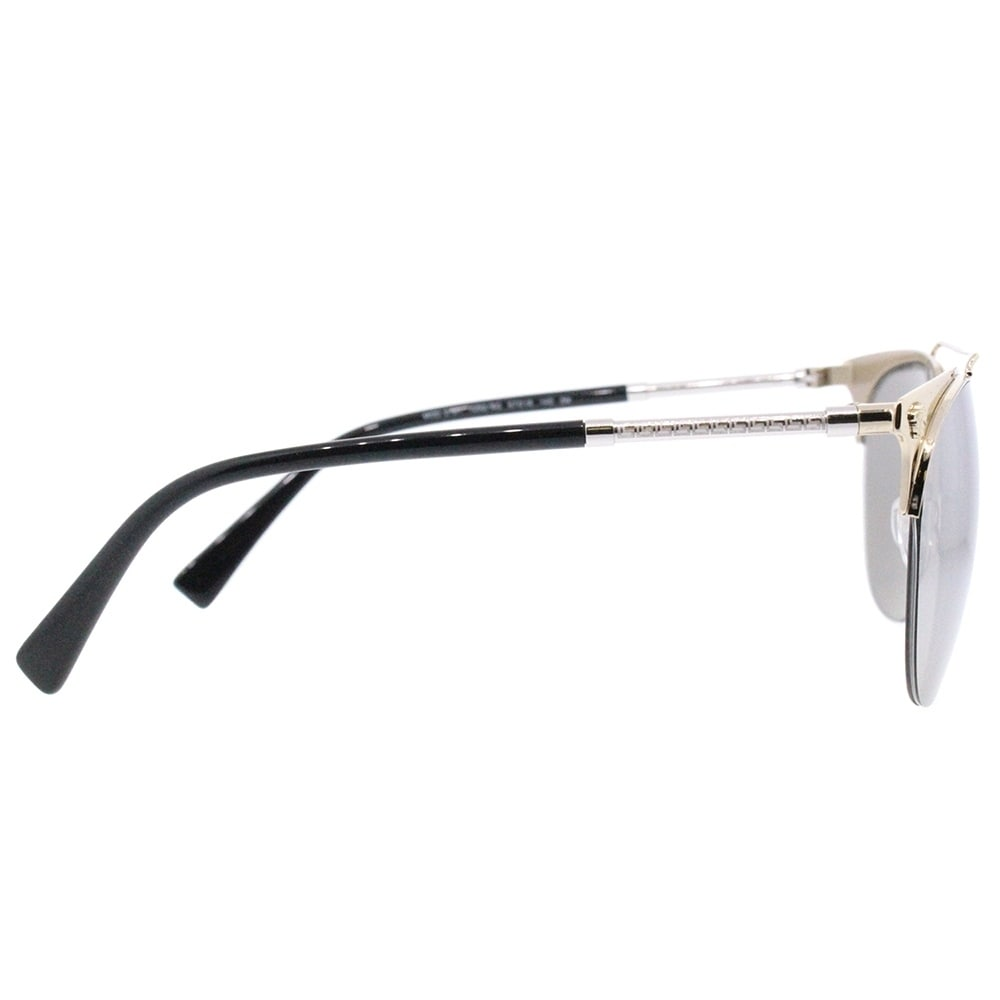 17a6f221b51 Shop Versace Aviator VE 2181 12526G Unisex Pale Gold Frame Silver Mirror  Lens Sunglasses - Free Shipping Today - Overstock - 18041793