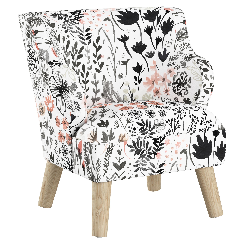 Skyline Furniture Kids Accent Chair In Winter Botanical