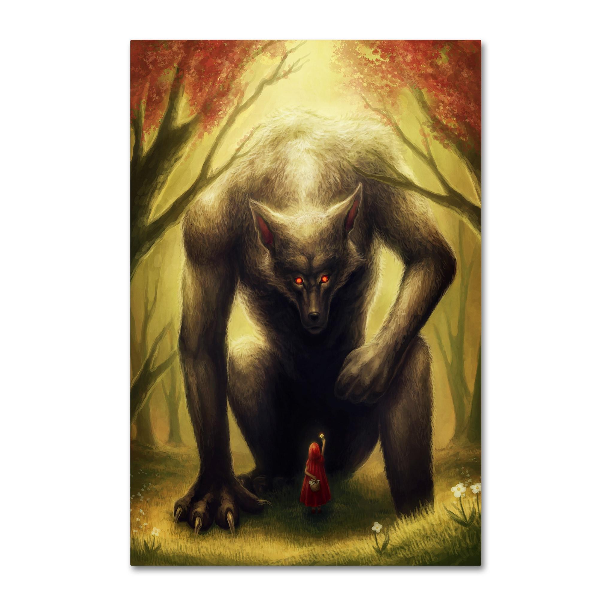 Shop JoJoesArt \'Little Red Riding Hood\' Canvas Art - On Sale - Free ...