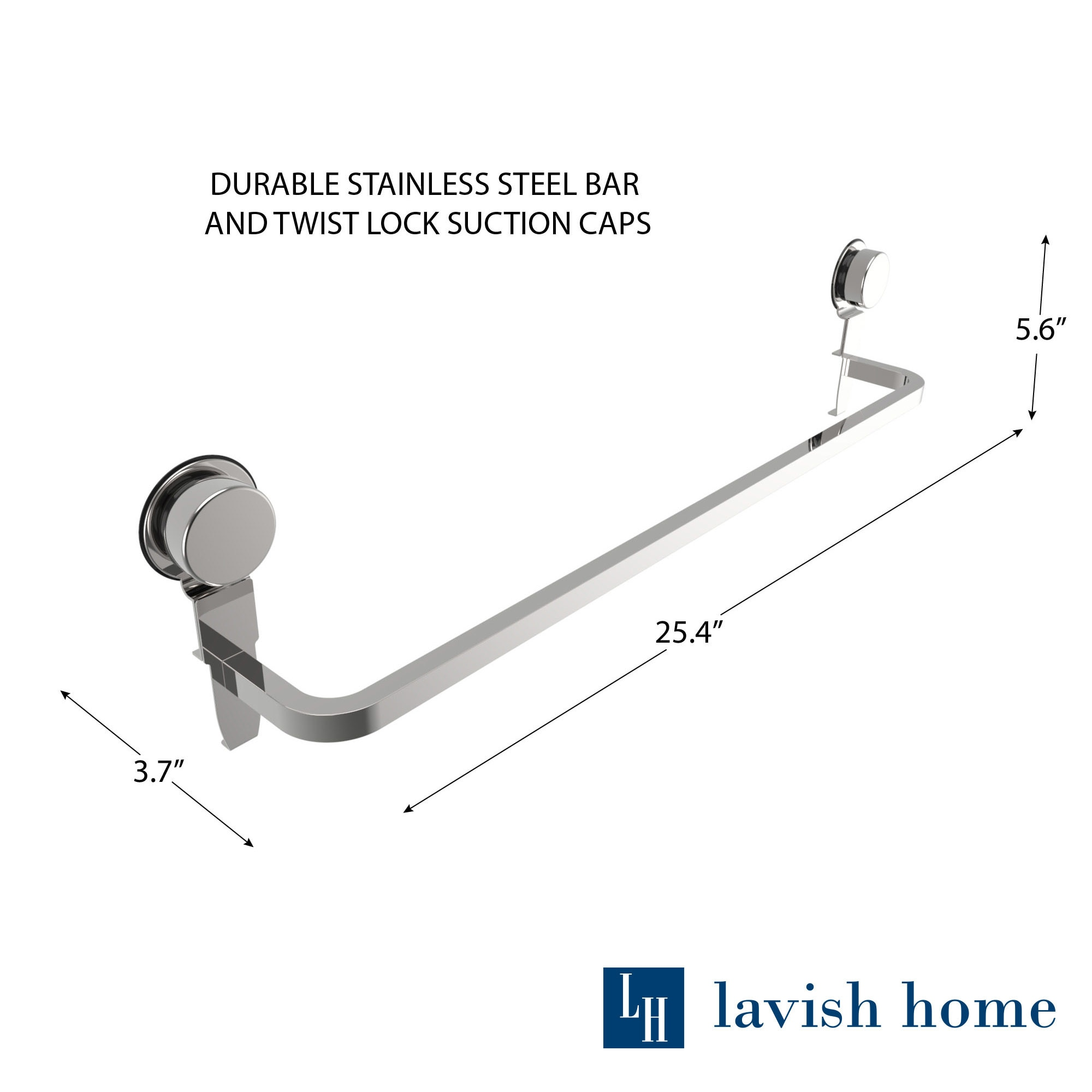 Wall Mounted Towel Bar Rack- Stainless Steel Wall Mount Drying and ...