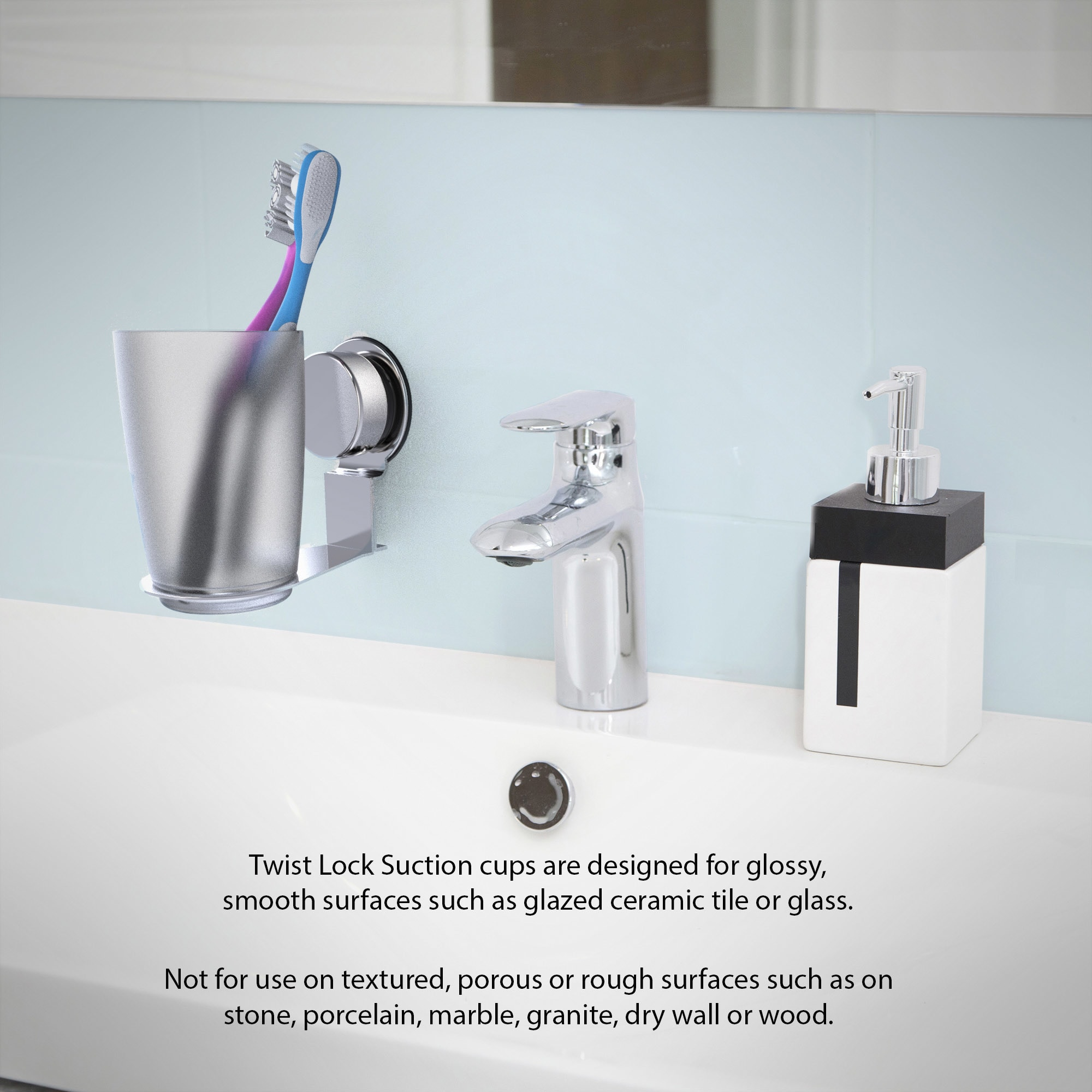 Shop Wall Mounted Toothbrush Holder- Twist Lock Stainless Steel ...