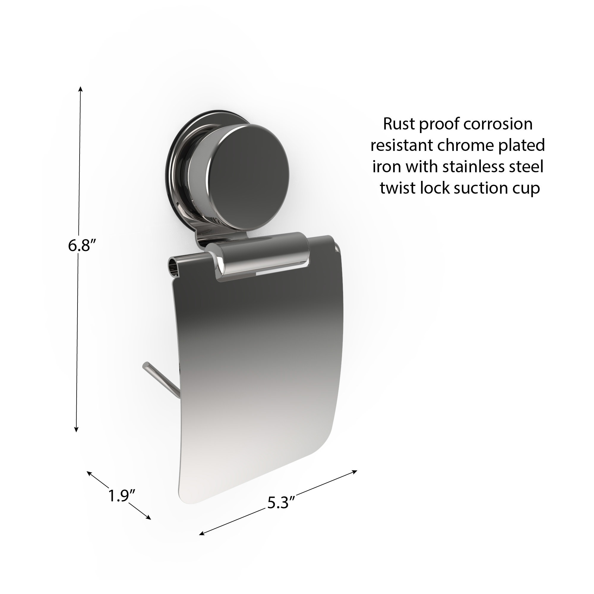 Shop Wall Mounted Toilet Paper Roll Holder with Flap -Toilet Twist ...
