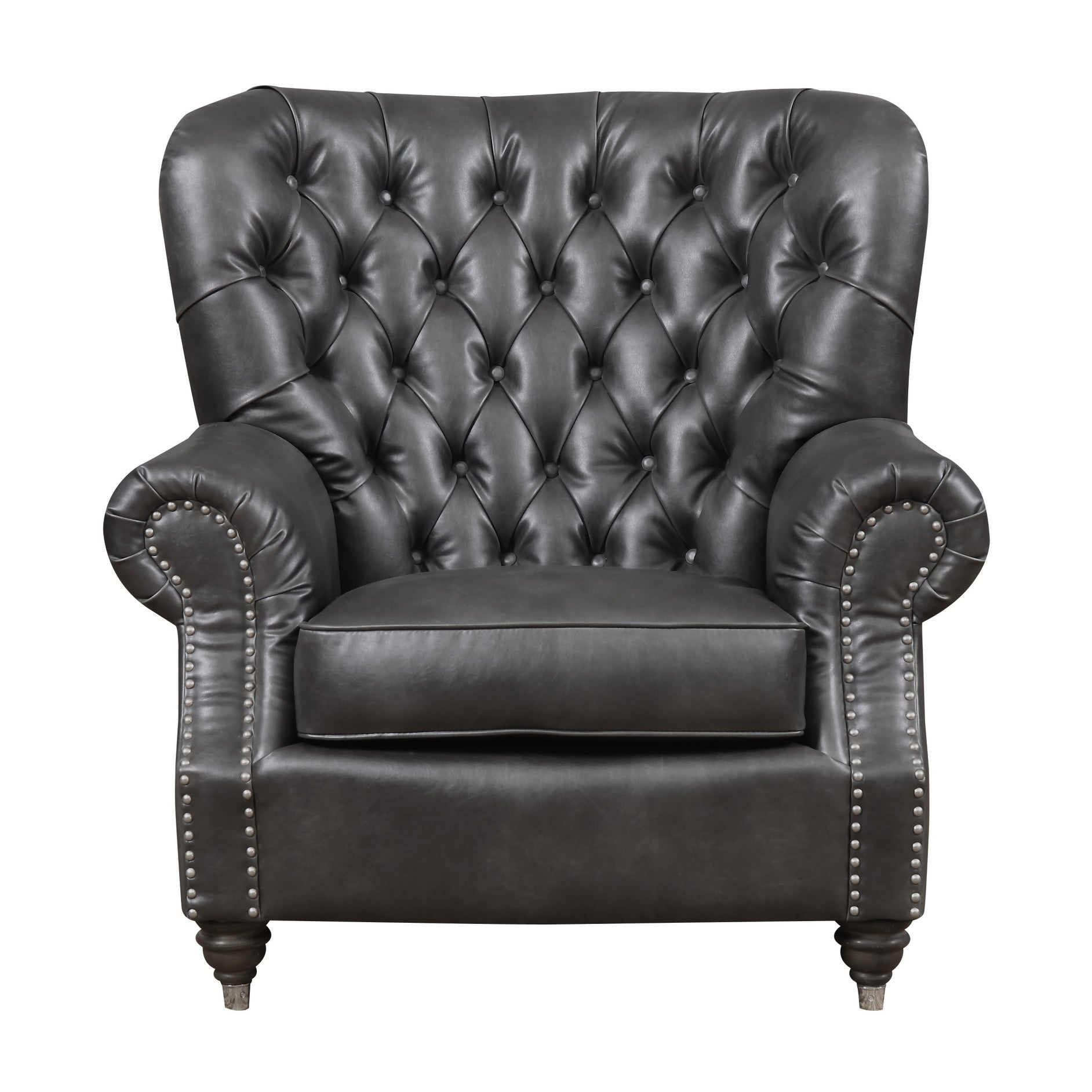 Shop Emerald Home Capone Charcoal Accent Chair   Free Shipping Today    Overstock.com   18045898