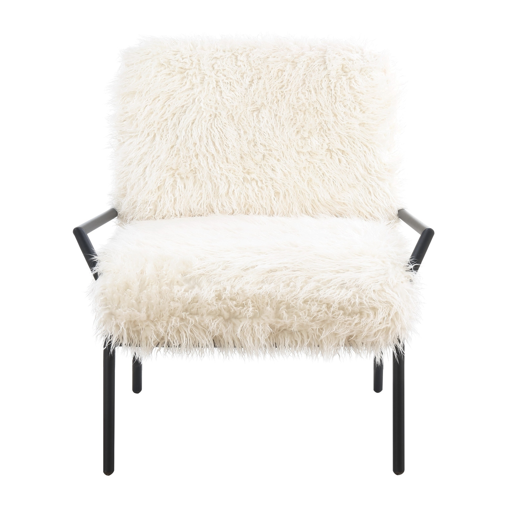 Shop Emerald Home Royal Off White And Matte Black Accent Chair With