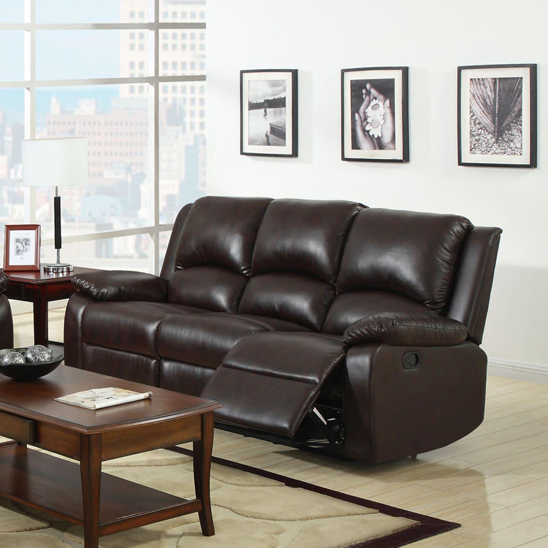 furniture of america taveren transitional rustic dark brown rh overstock com rustic reclining sofas loveseats