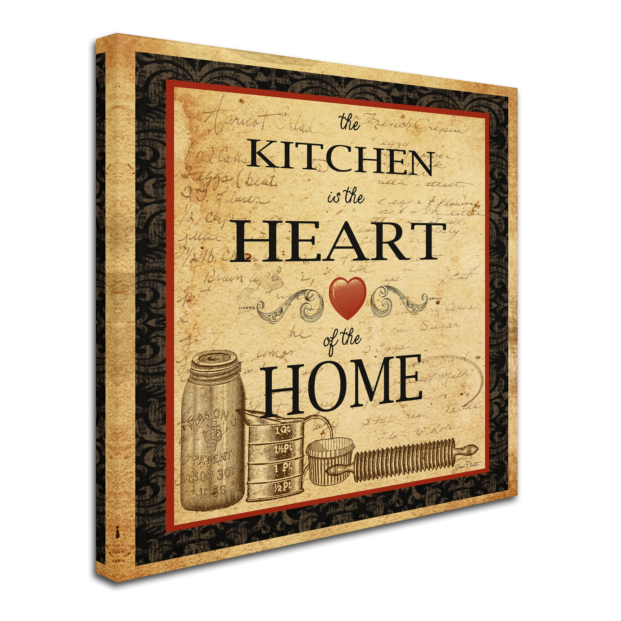 Shop Jean Plout \'Kitchen Heart Vignette\' Canvas Art - On Sale - Free ...