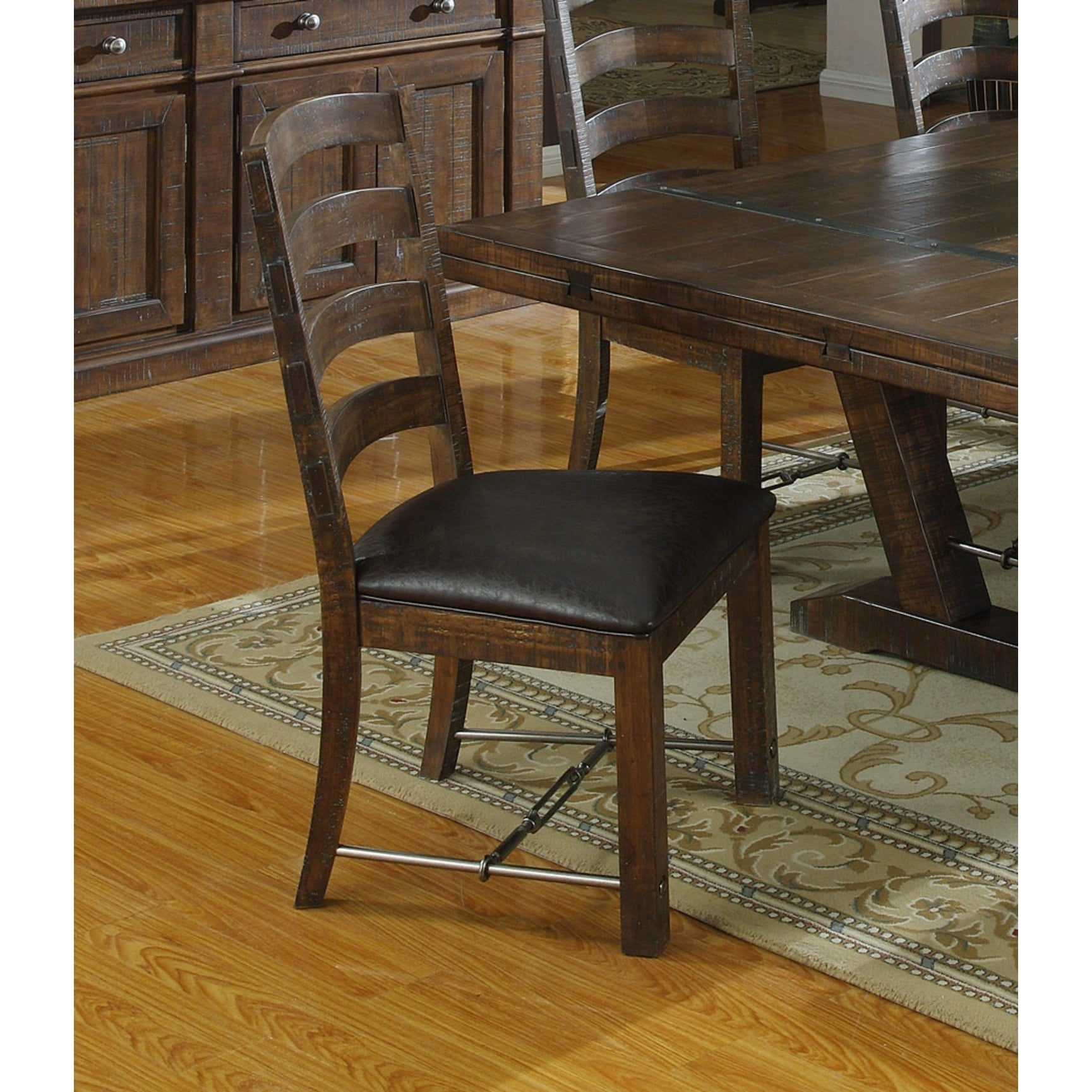 Emerald Home Castlegate Dining Chair With Bonded Leather Seat Set Of 2 On Free Shipping Today 18047855