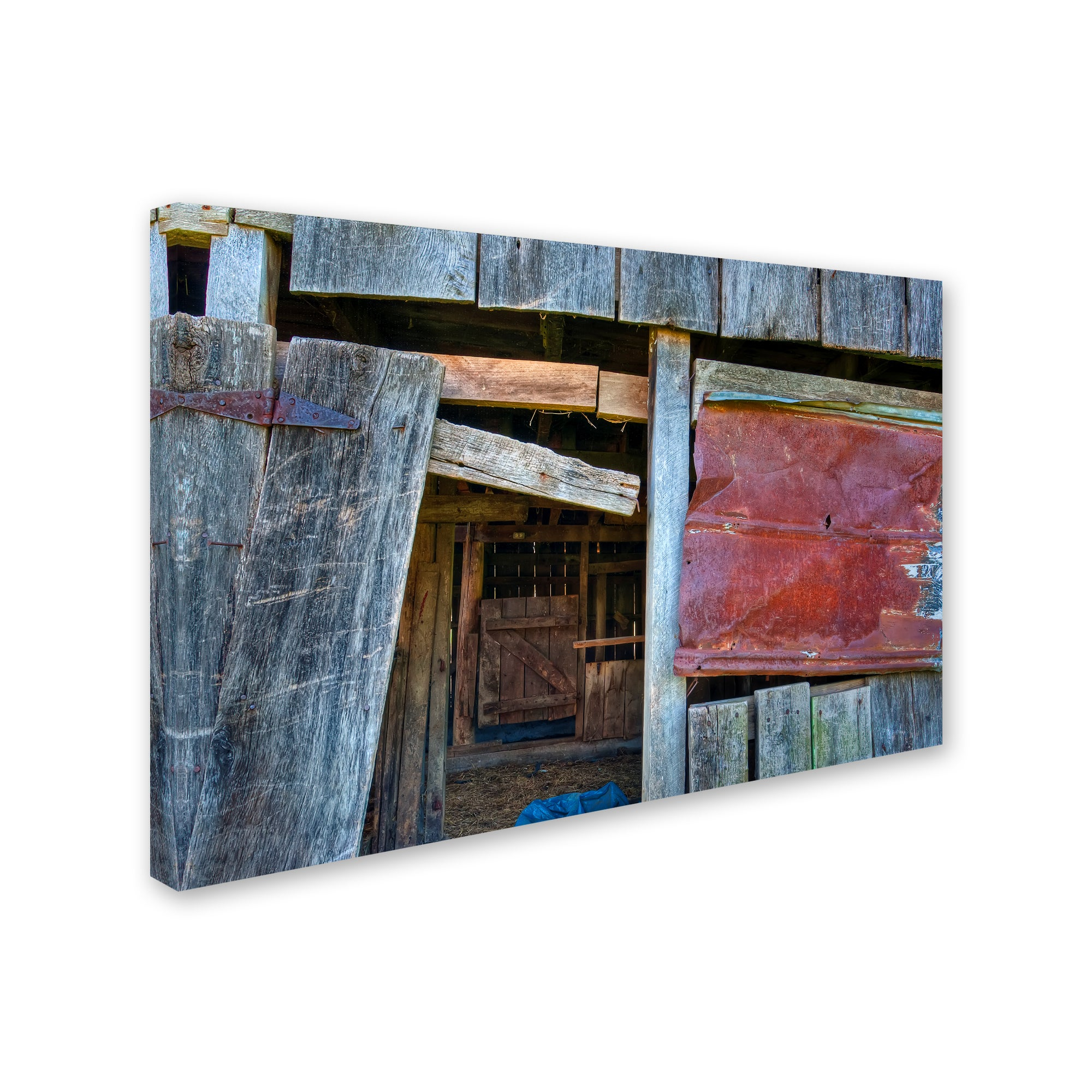 Bob Rouse Range Barn Doorway Canvas Art