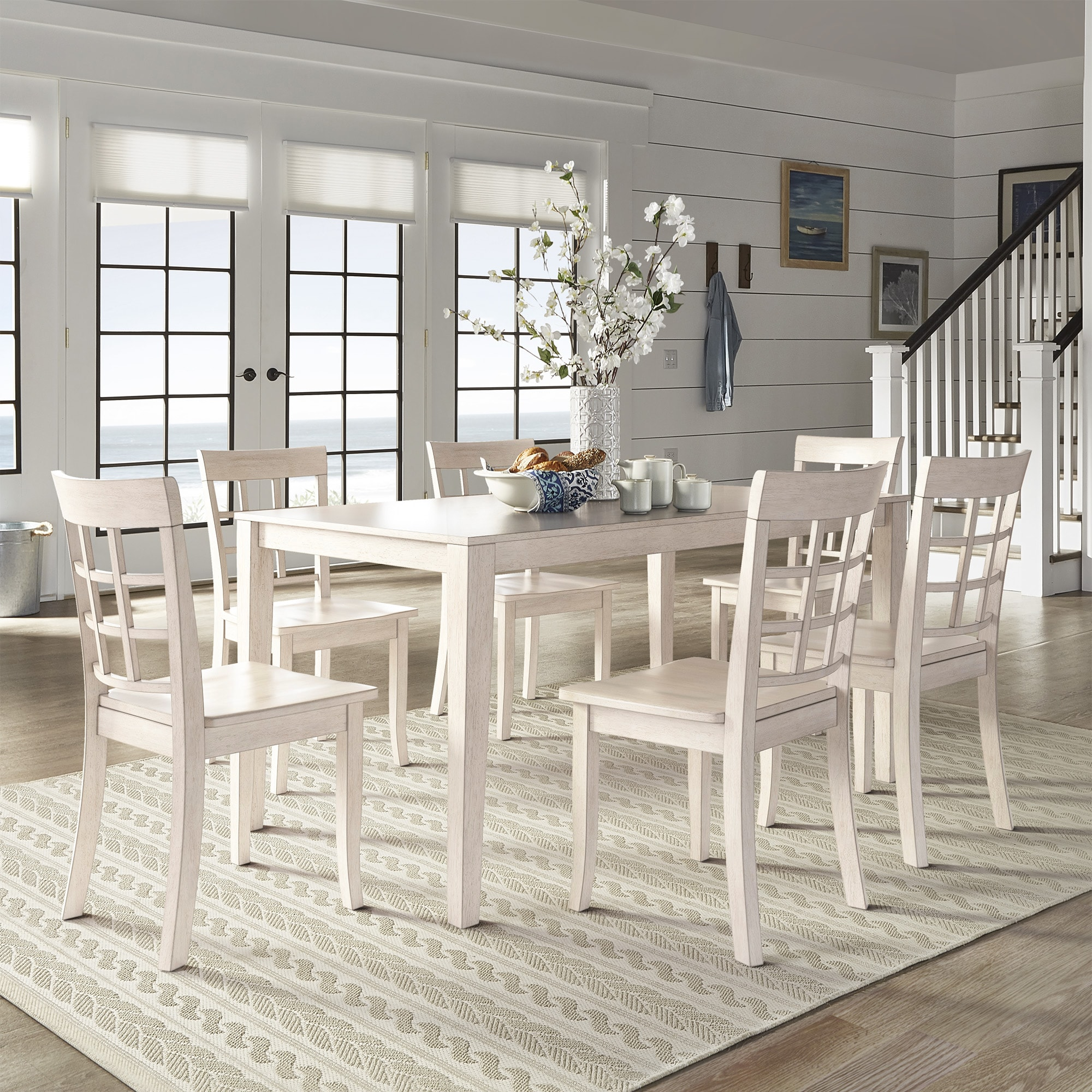 Shop Wilmington II 60-Inch Rectangular Antique White Dining Set by ...