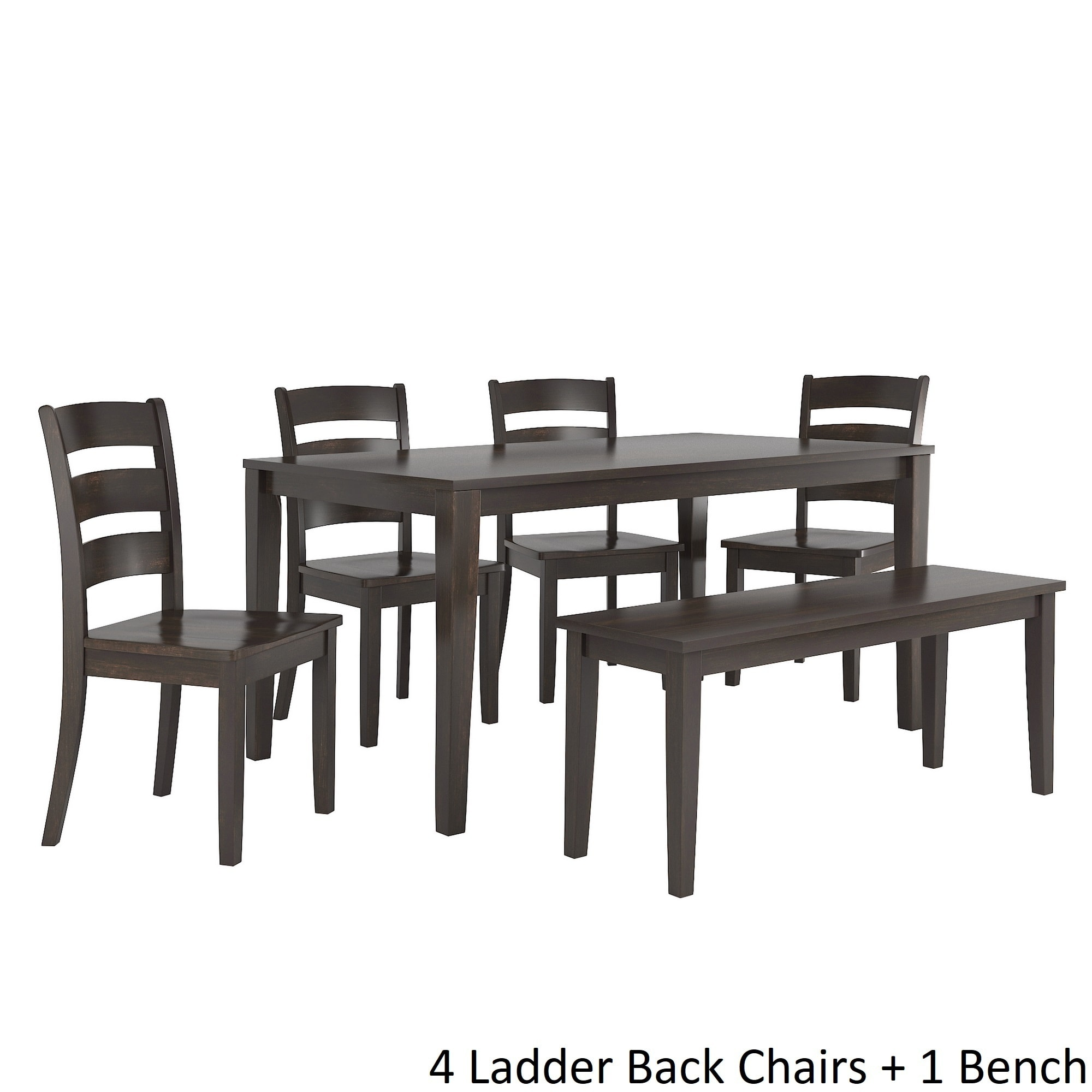 Wilmington II 60-Inch Rectangular Antique Black Dining Set by ...