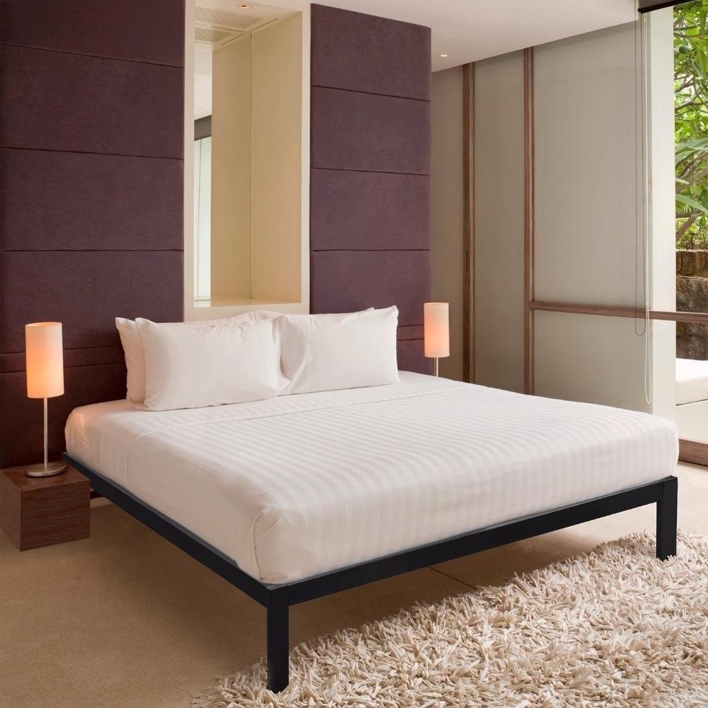 Shop King Size Bed Frame Heavy Duty Steel Slats Platform Series