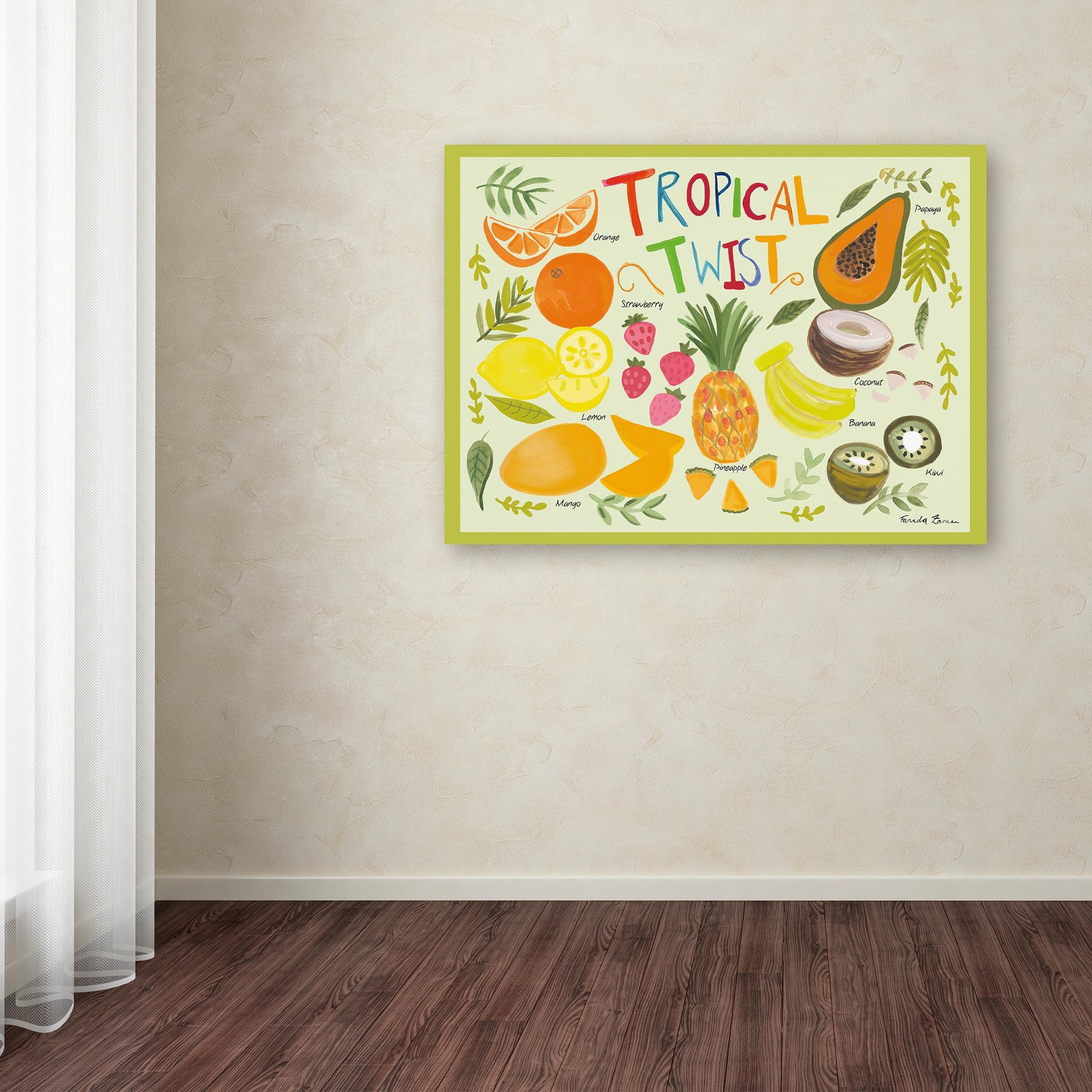 Farida Zaman \'Fruity Smoothie II on White\' Canvas Art - Free ...