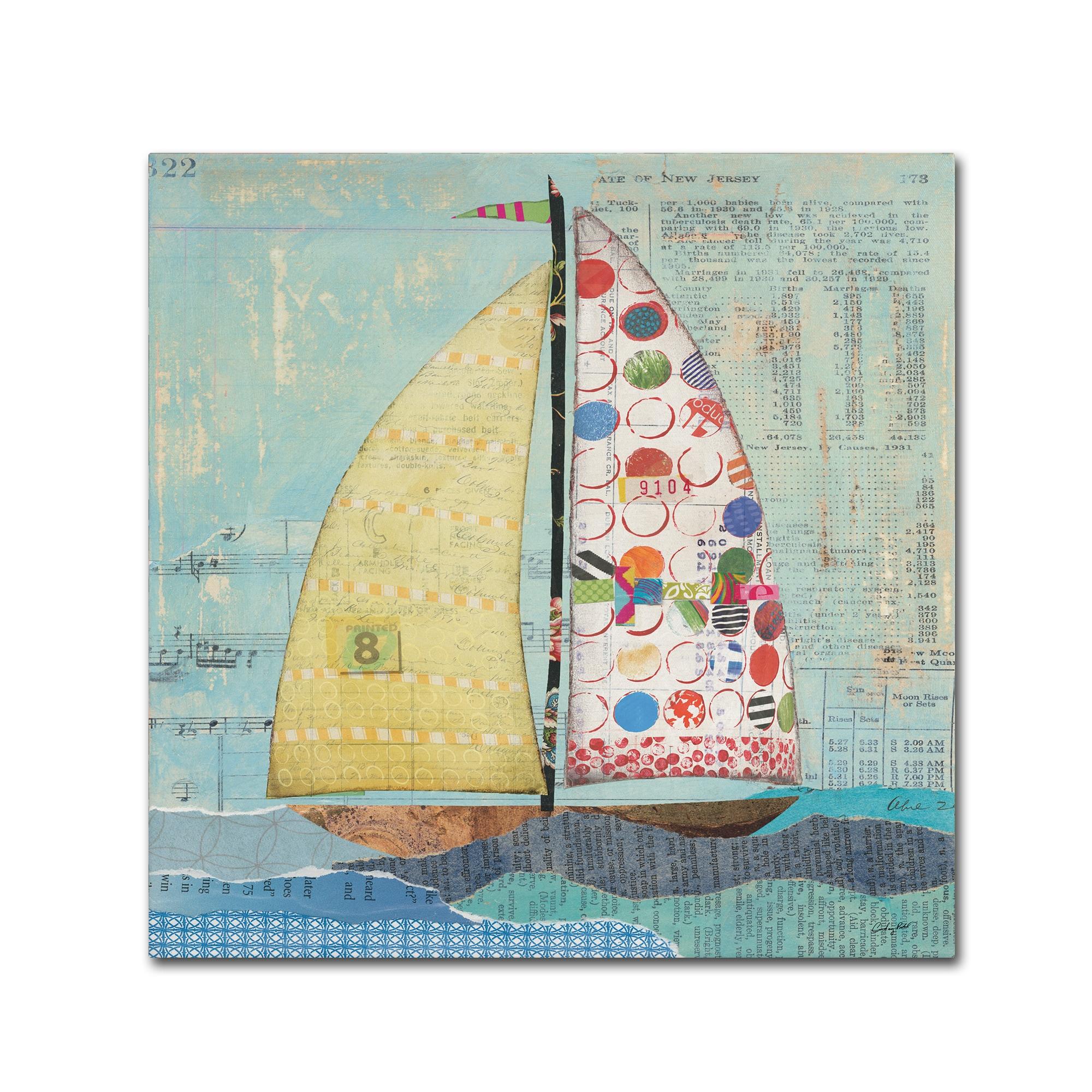 Shop Courtney Prahl \'At the Regatta I Sail Sq\' Canvas Art - On Sale ...