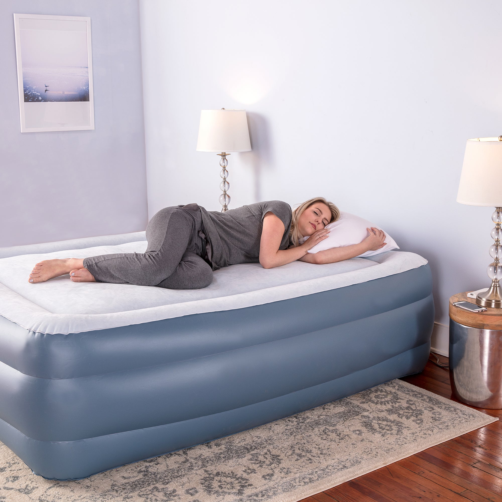 24 inch air mattress Shop Sharper Image Premier Memory Foam 24 inch Full size Air Bed  24 inch air mattress