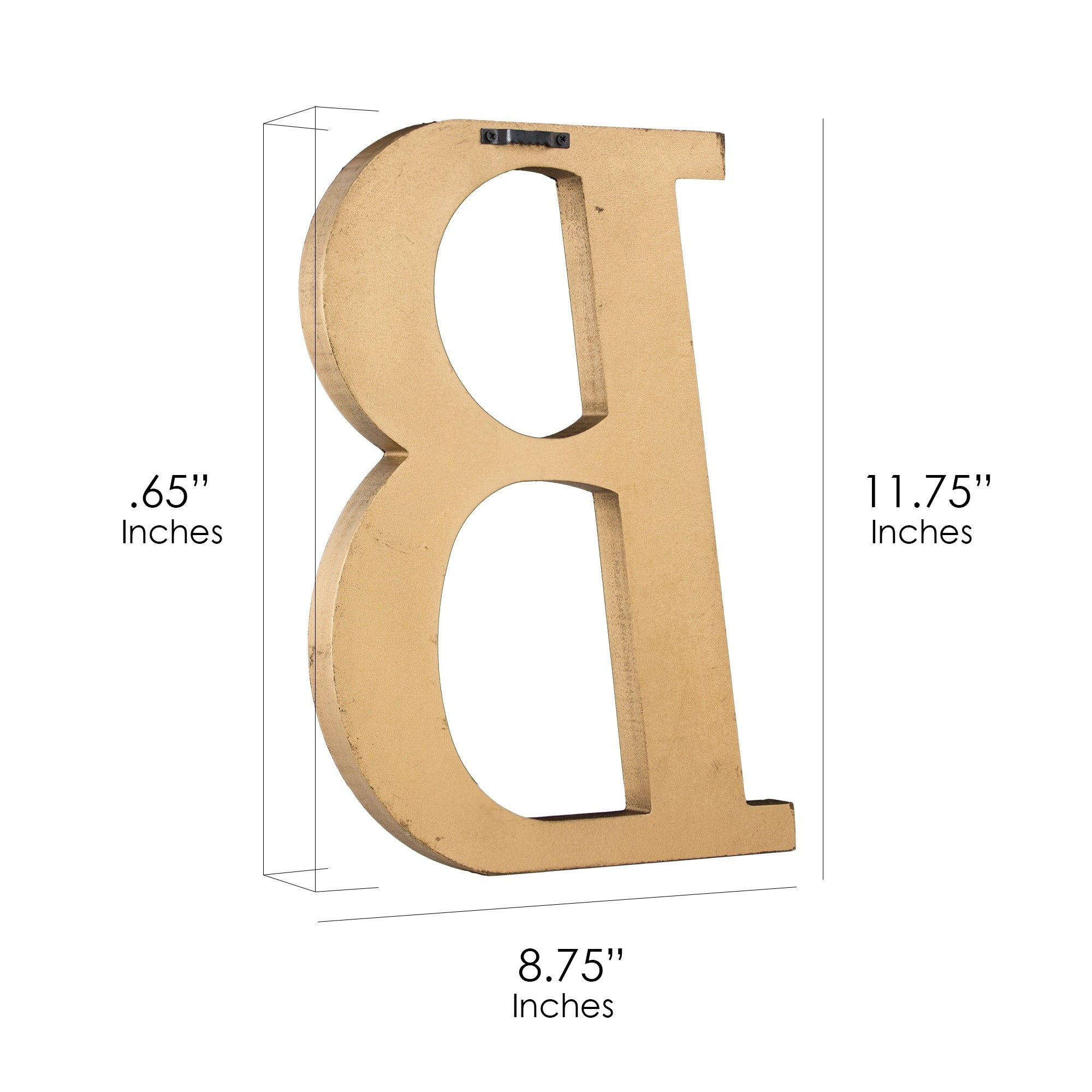 Shop Gold Wall Letter with Acrylic Mirrors Hanging Initial B - Free ...