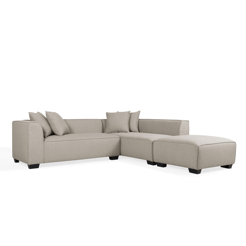 shop handy living phoenix barley tan sectional sofa with ottoman