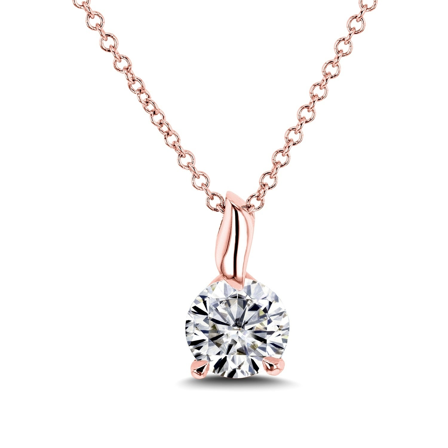 necklace solitaire image necklaces brilliant moissanite colvard w charles pendants gold princess dwt forever pendant