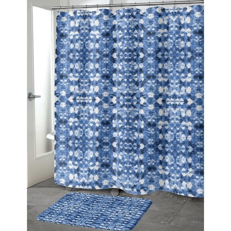 Shop SHIBORI MIRROR Shower Curtain By Becky Bailey   On Sale   Free  Shipping Today   Overstock.com   18062010