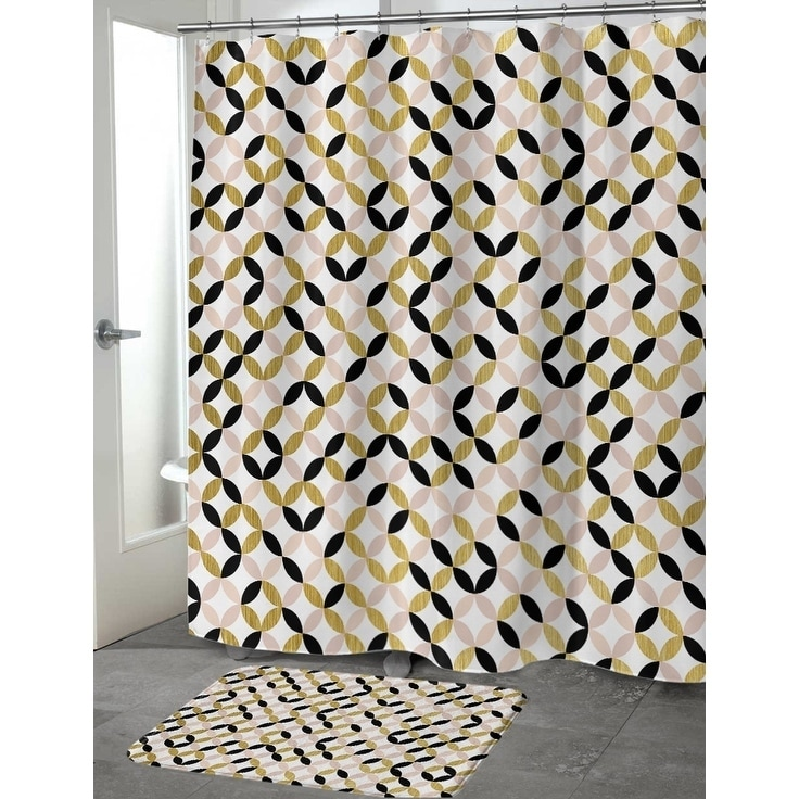 Shop GOLD, BLACK ,PINK AND WHITE 2 Shower Curtain By Terri Ellis ...