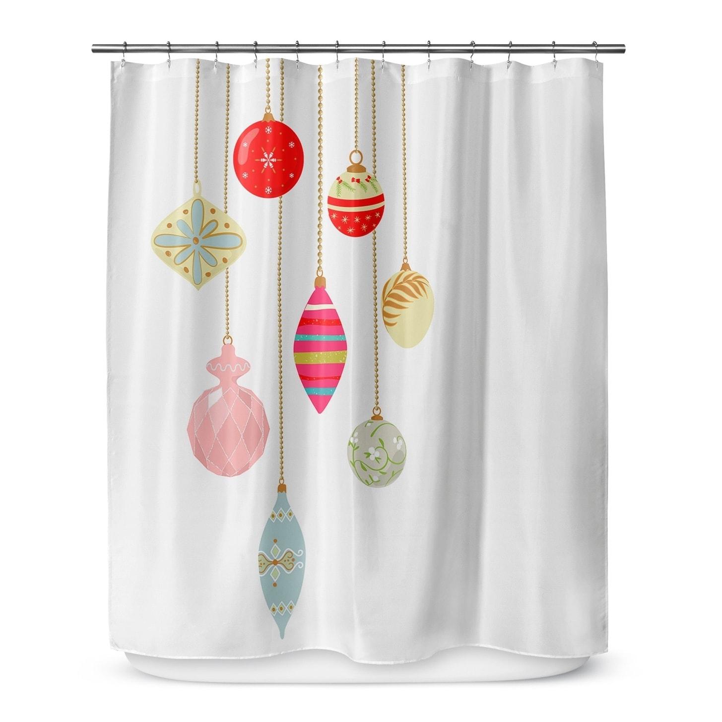 Kavka Designs Christmas Bling Shower Curtain