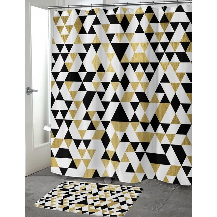 GOLD, BLACK AND WHITE 4 Shower Curtain By Terri Ellis - Free ...