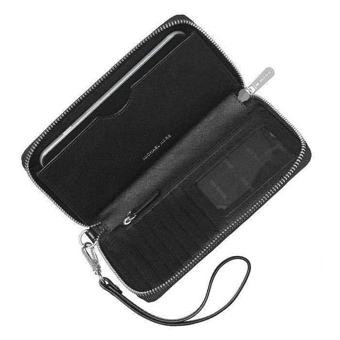 9844d68962e5 Shop Michael Kors Jet Set Large Black Multifunction Phone Case Wallet - On  Sale - Free Shipping Today - Overstock - 18062815