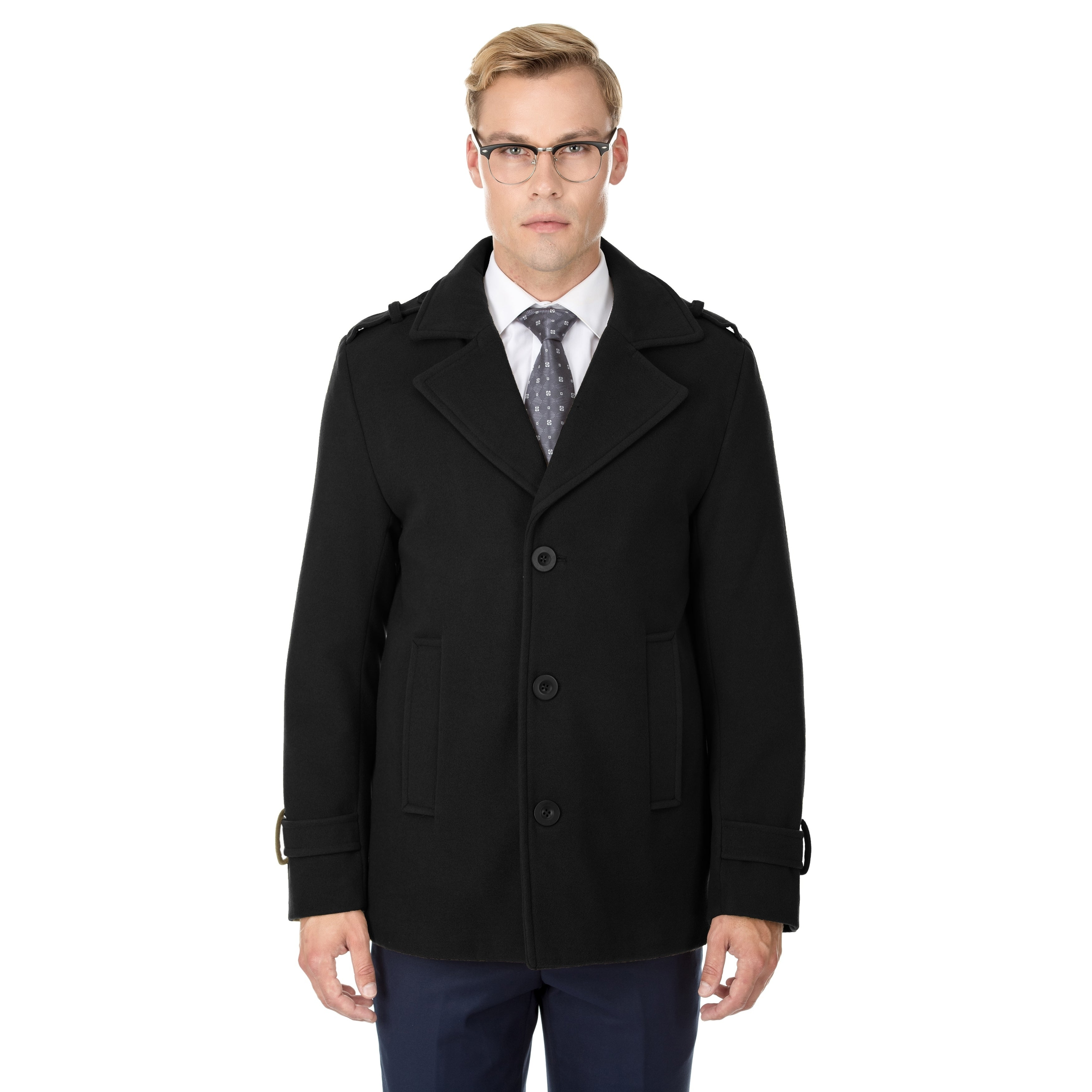 694ce1742881 Shop Braveman Men s Single Breasted Wool Blend Coats - On Sale - Free  Shipping Today - Overstock - 18062950