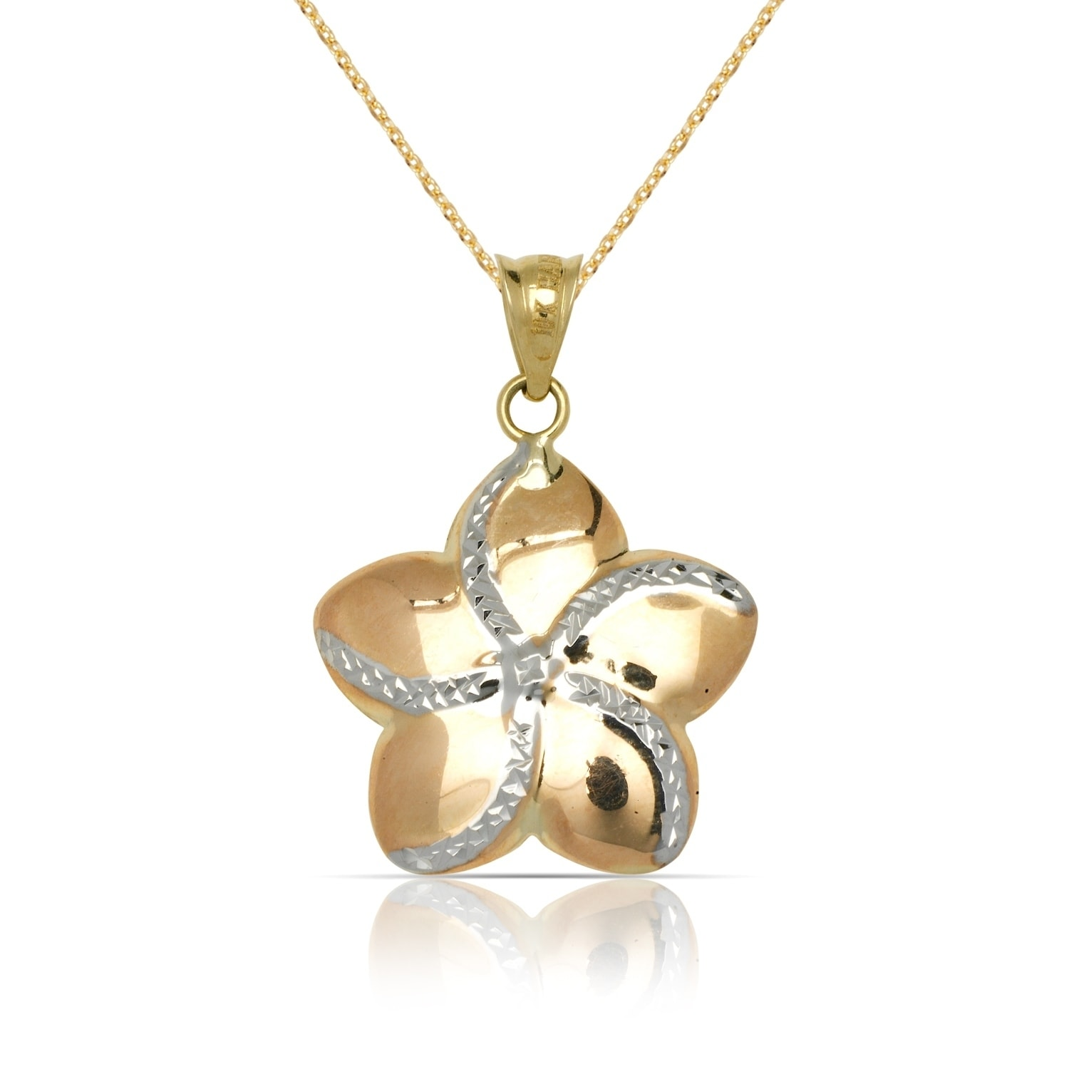 necklaces pendant clarity gold mg flower necklace en and diamond