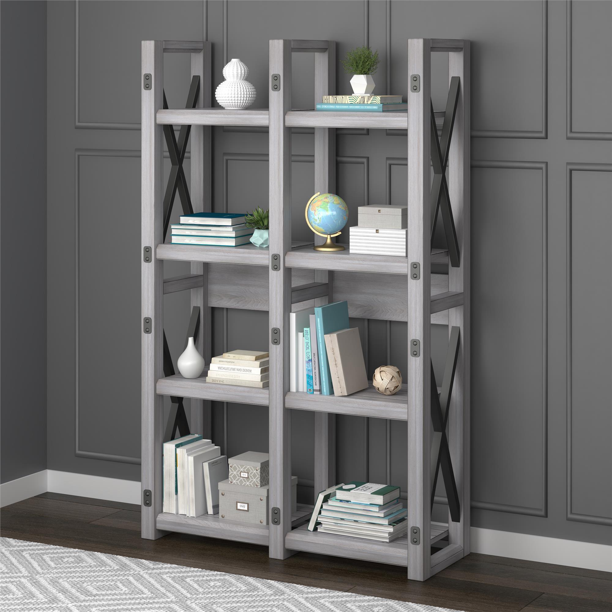 Shop Avenue Greene Woodgate Rustic White Bookcase Room Divider