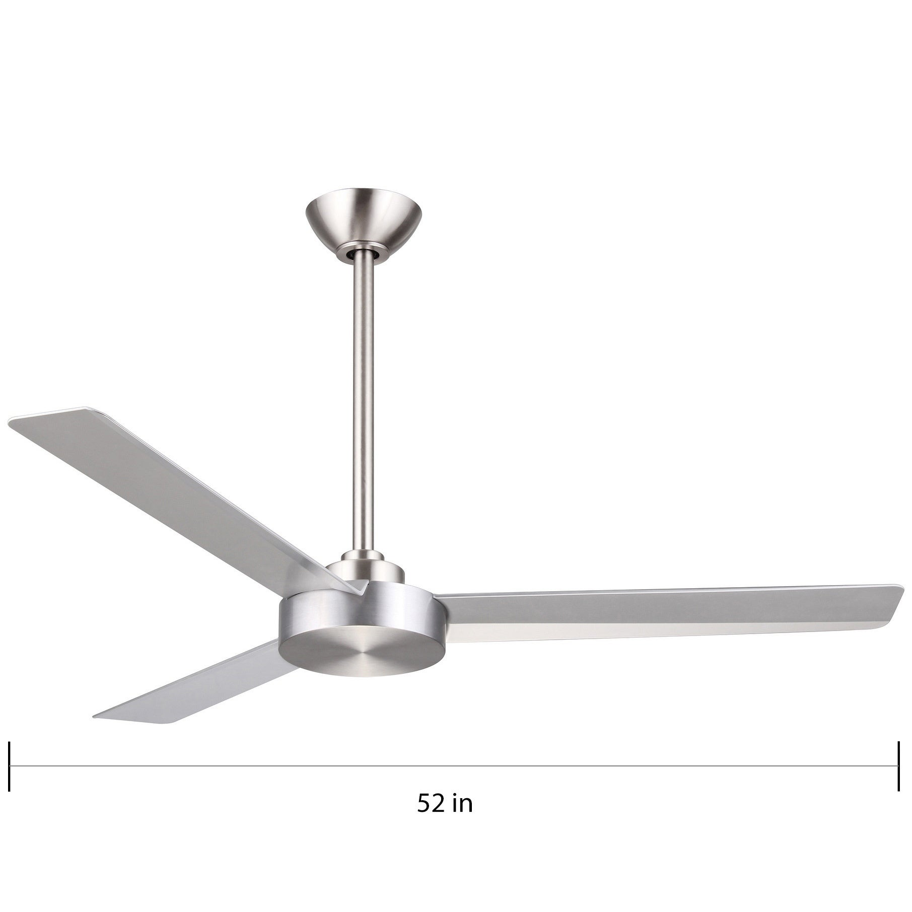 Swell Roto Ceiling Fan In Brushed Aluminum Finish W Silver Blades N A Interior Design Ideas Inamawefileorg