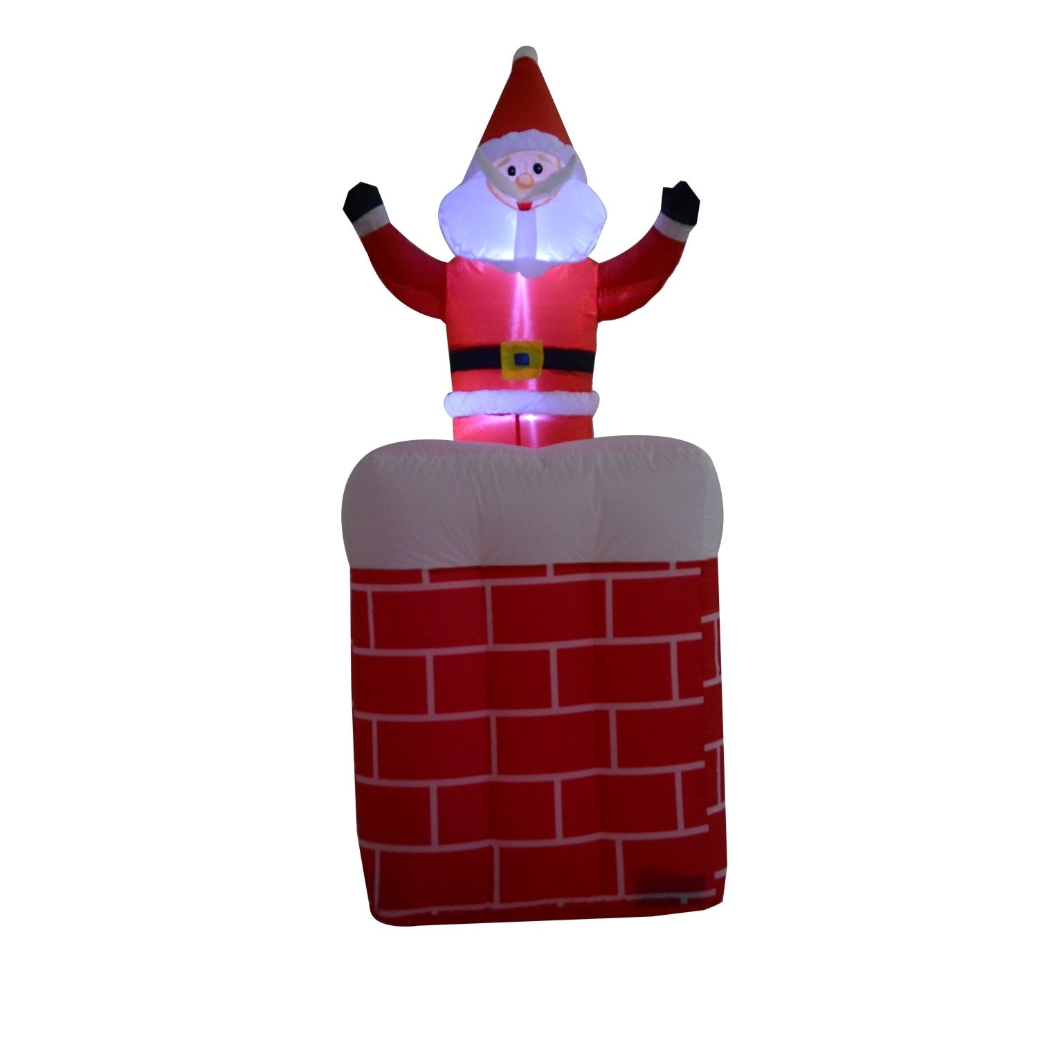 Shop HomCom 6\' Outdoor Lighted Christmas Inflatable - Santa in ...
