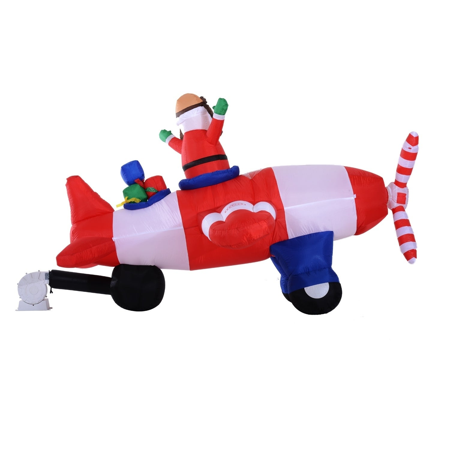 Shop HomCom 8 Ft Long Outdoor Animated Airblown Inflatable Christmas ...