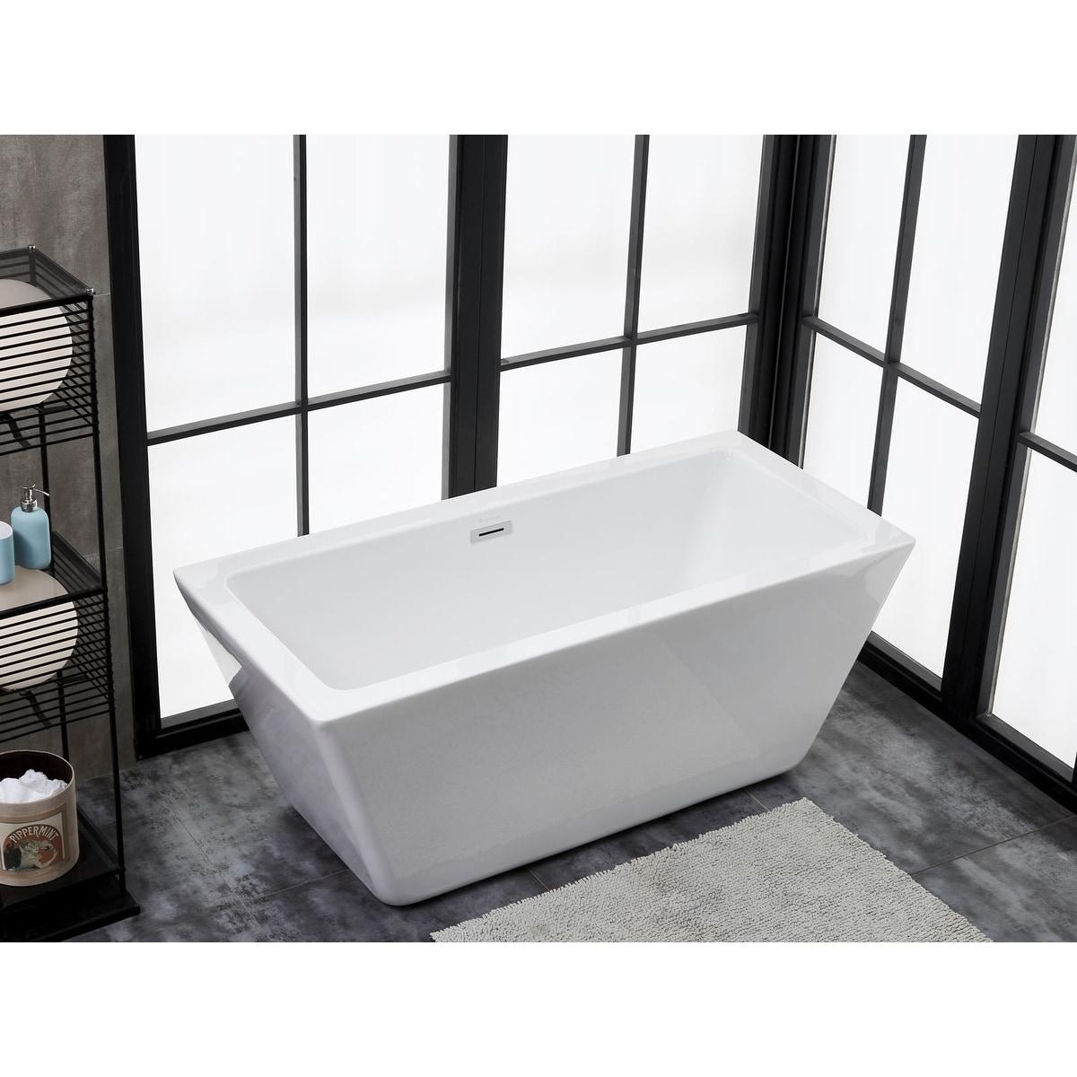 Shop Ravenna 60 X 28 Freestanding Acrylic Soaking Bathtub By