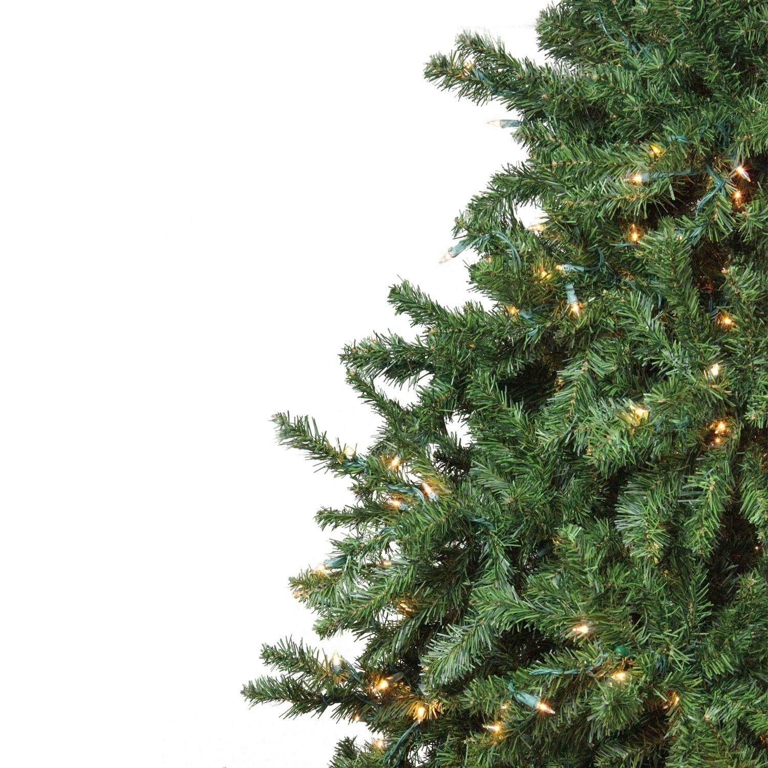 15 pre lit 2 tone canadian pine commercial artificial christmas tree warm white lights free shipping today overstockcom 24235693 - Commercial Christmas Decorations Canada