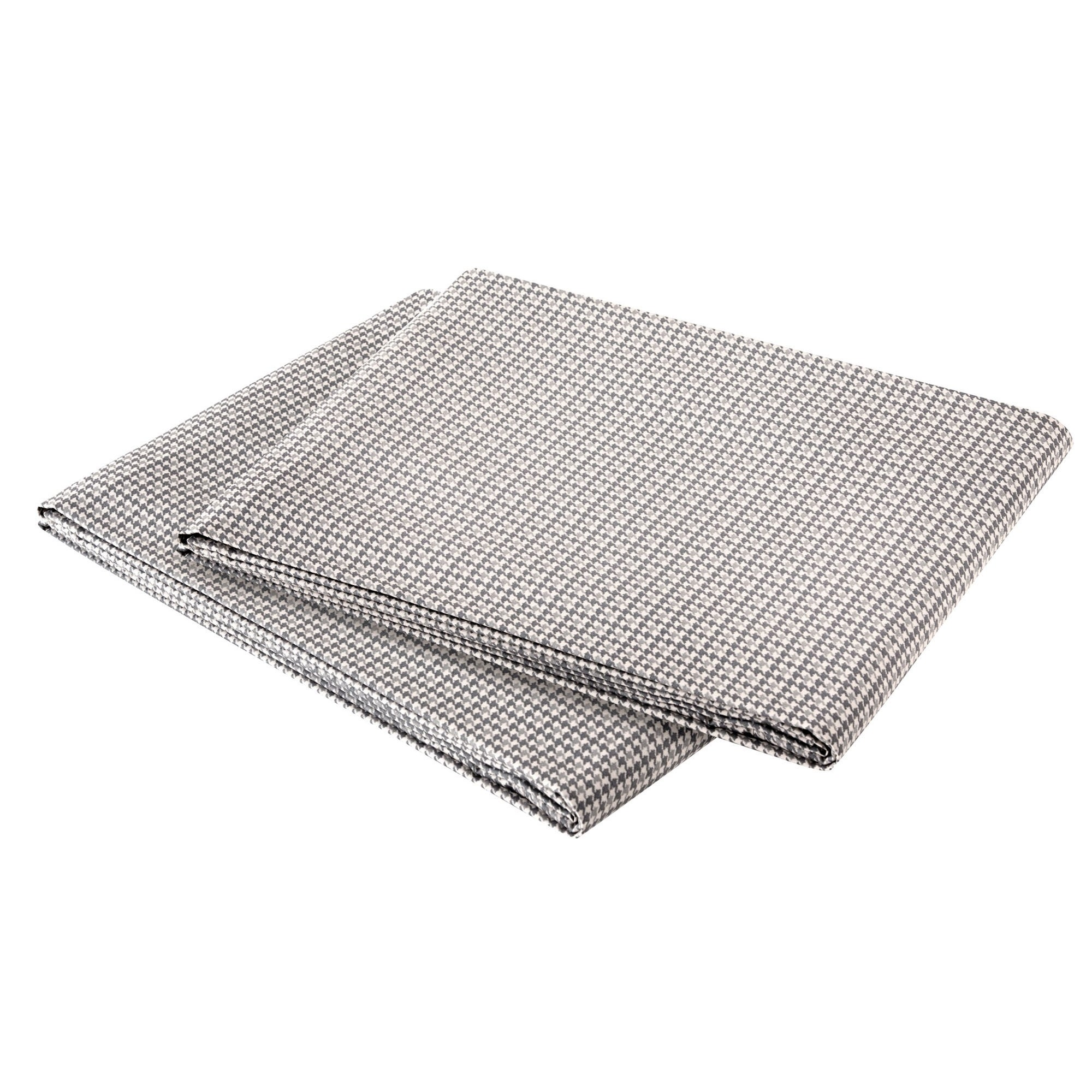 Houndstooth King Sateen Sheet Set, Grey - Free Shipping Today ...