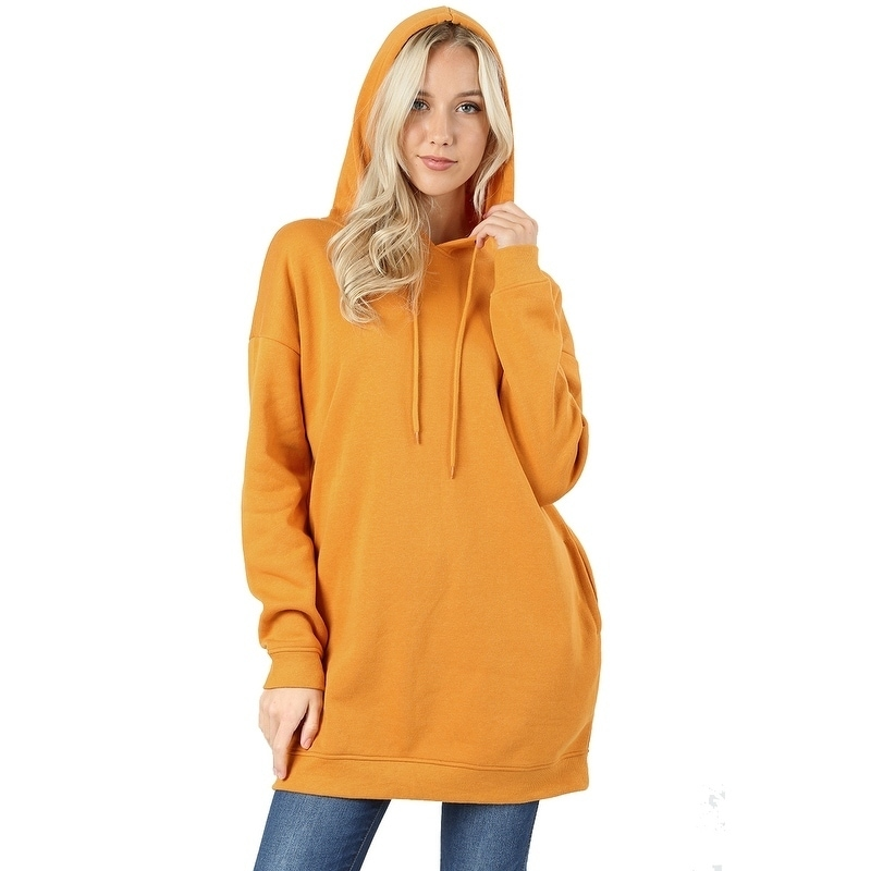 e8a8b83db91 Shop JED Women's Comfy Fit Hooded Pull-Over Tunic Sweater with Pockets - On  Sale - Free Shipping On Orders Over $45 - Overstock - 18079028