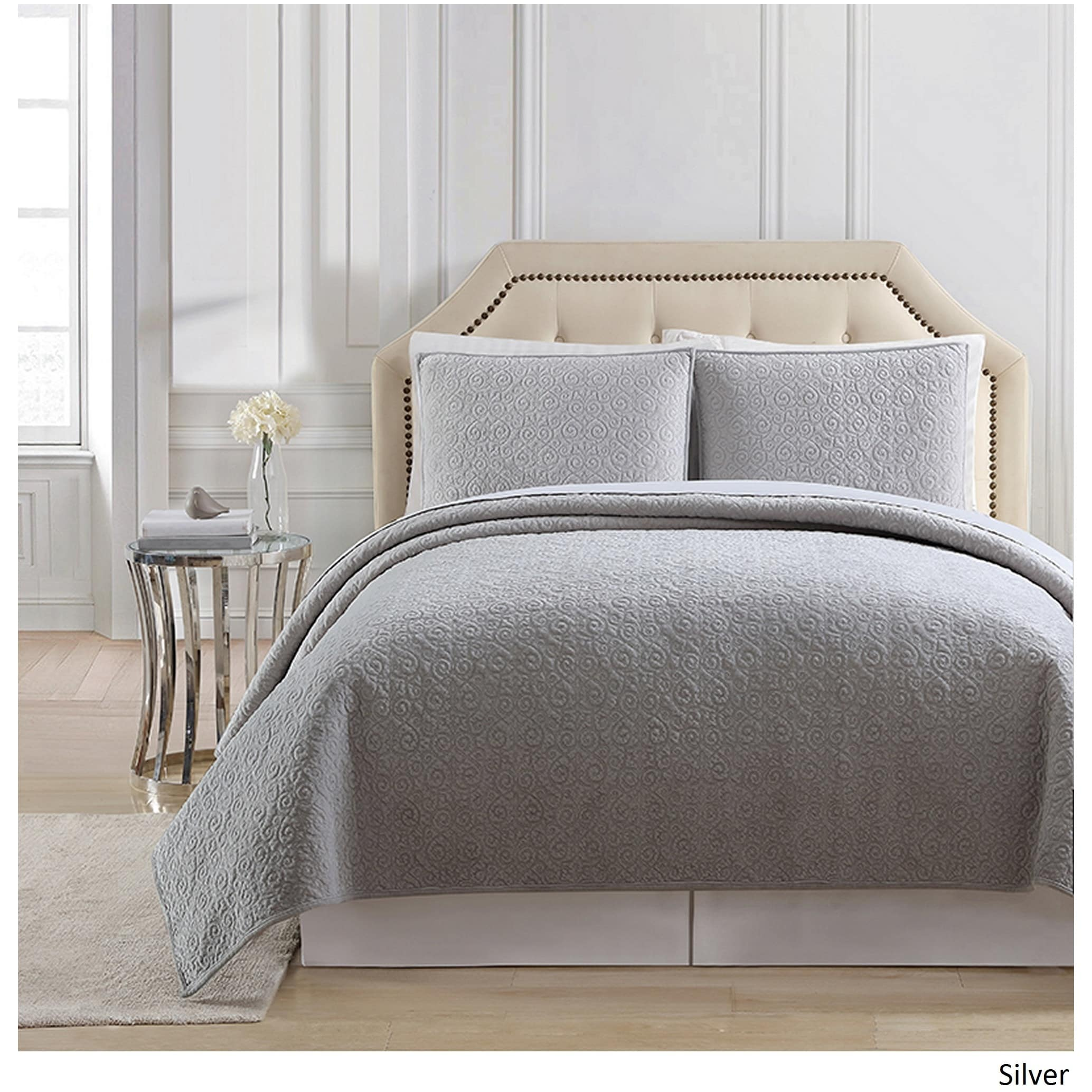Charisma Regent Luxury Velvet Quilted Coverlet   On Sale   Free Shipping  Today   Overstock.com   24239738