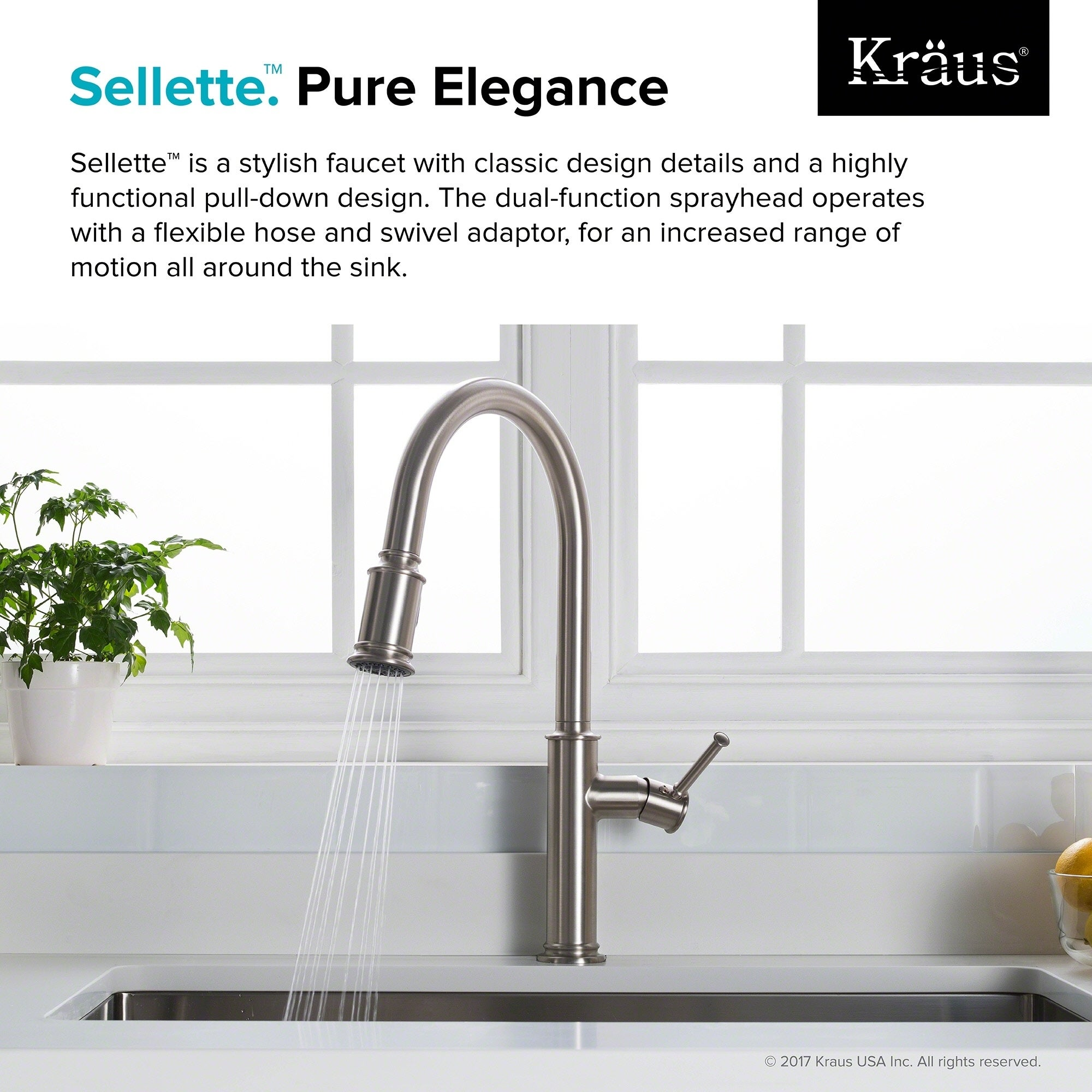 Shop KRAUS Sellette Single Handle Pull Down Kitchen Faucet With Dual  Function Sprayhead   Free Shipping Today   Overstock.com   18079545