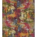 Eden Outdoor Multi/Red Abstract Area Rug (10' x 12')