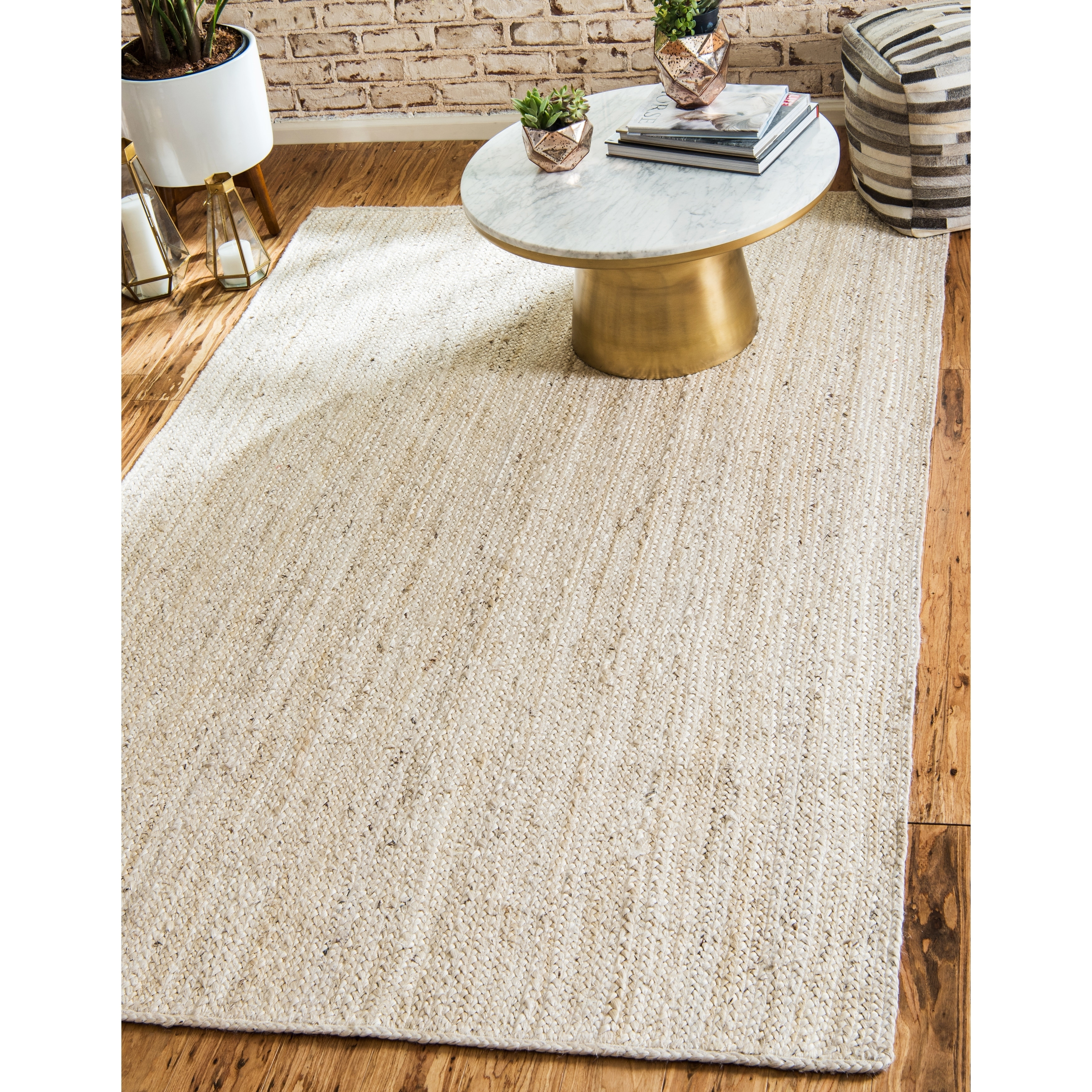 Unique Loom Delhi Braided Jute Area Rug 9 X 12 On Free Shipping Today 18082031