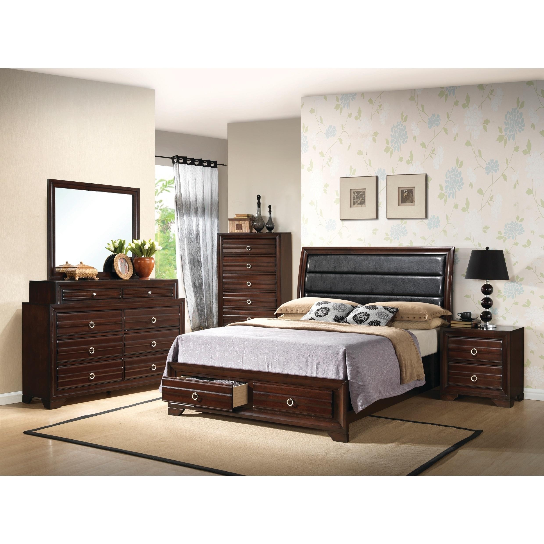 Cool Home Source Bedroom Furniture Queen Bed Dresser Mirror 2 Nightstands Chest Interior Design Ideas Tzicisoteloinfo